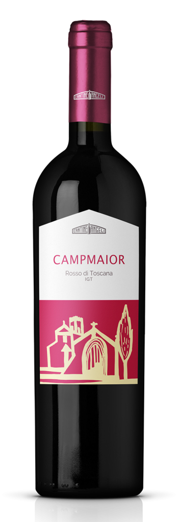 Bottiglia di vino Campmaior rosso di Toscana, in vendita presso Cantine Angeli