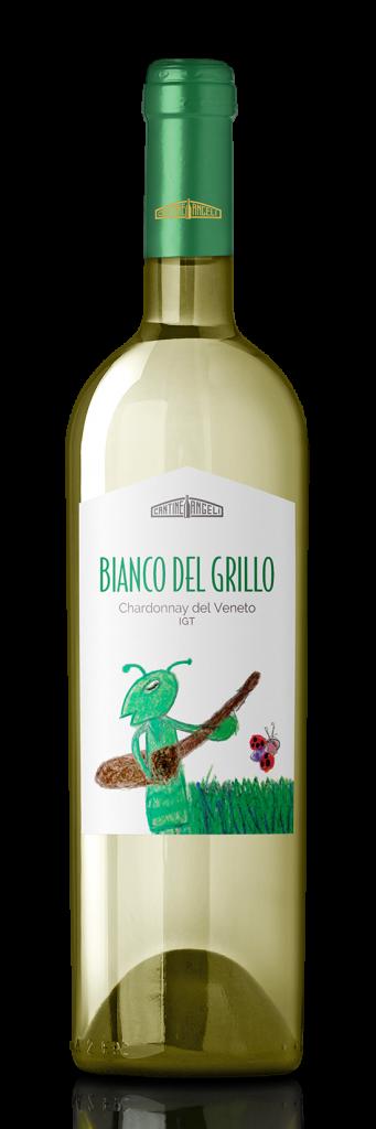 Bottiglia di vino bianco Chardonnay del Grillo, in vendita presso Cantine Angeli