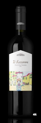 Bottiglia di vino rosso Lazzerone DOC Maremma, in vendita presso Cantine Angeli