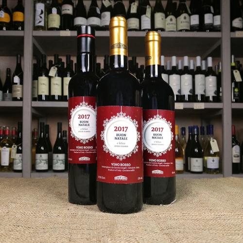Olio o vino con etichetta natalizia personalizzata