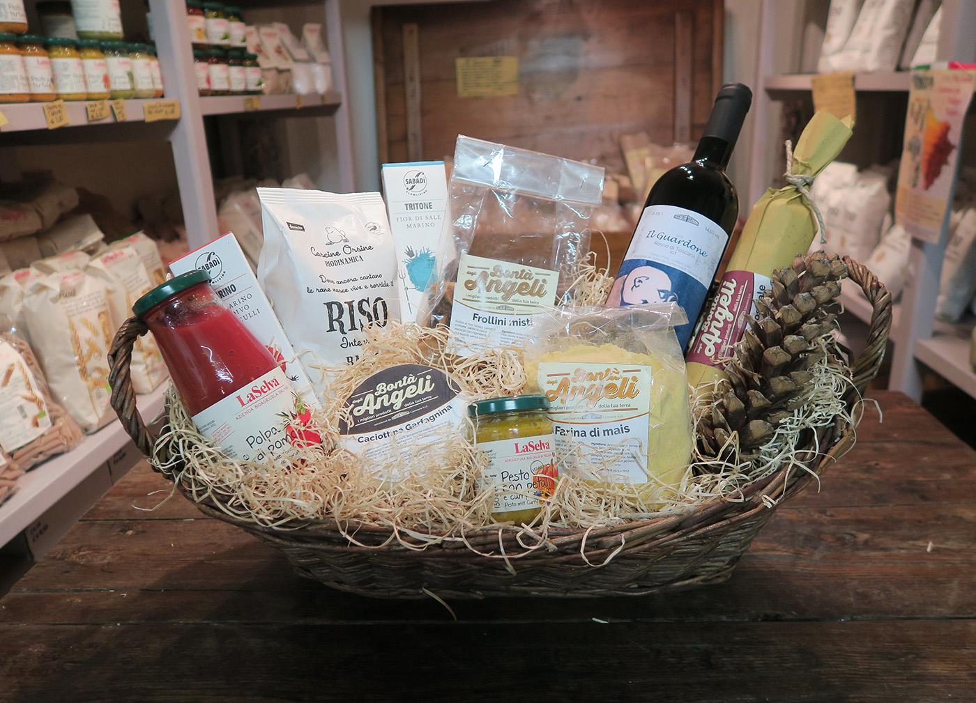 Ceste regalo con prodotti biologici cover