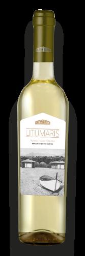 Bottiglia di vino bianco Litus Maris vermentino di Toscana